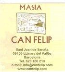 Logo Turismo rural Masia Can Felip